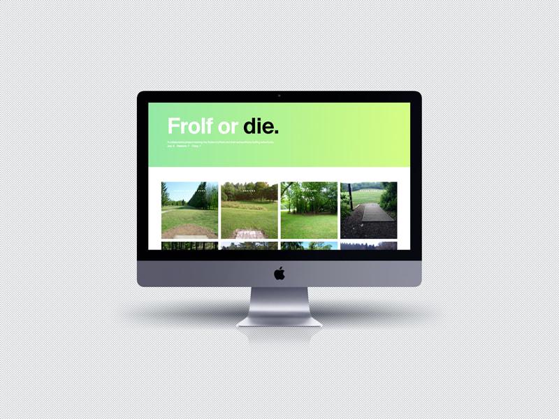frolf or die website mockup