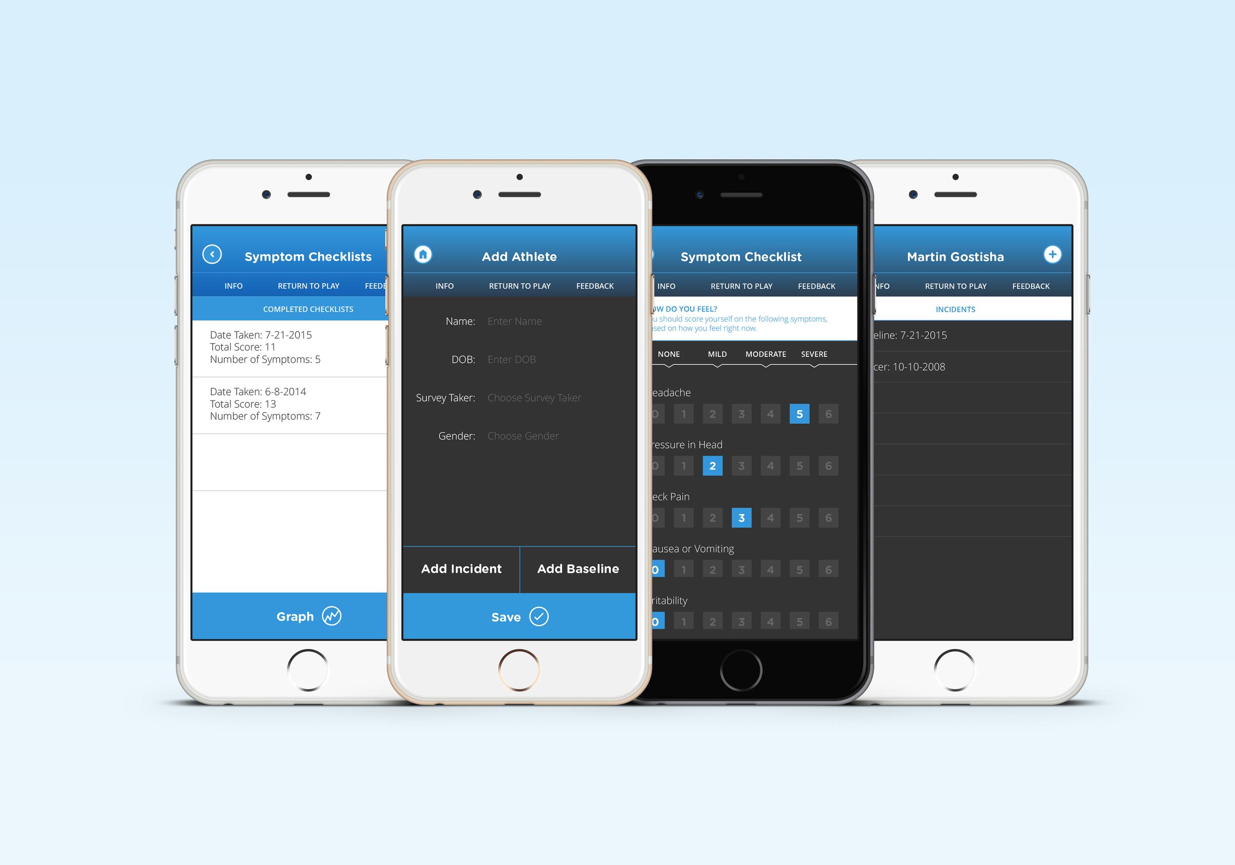 concussion app designs