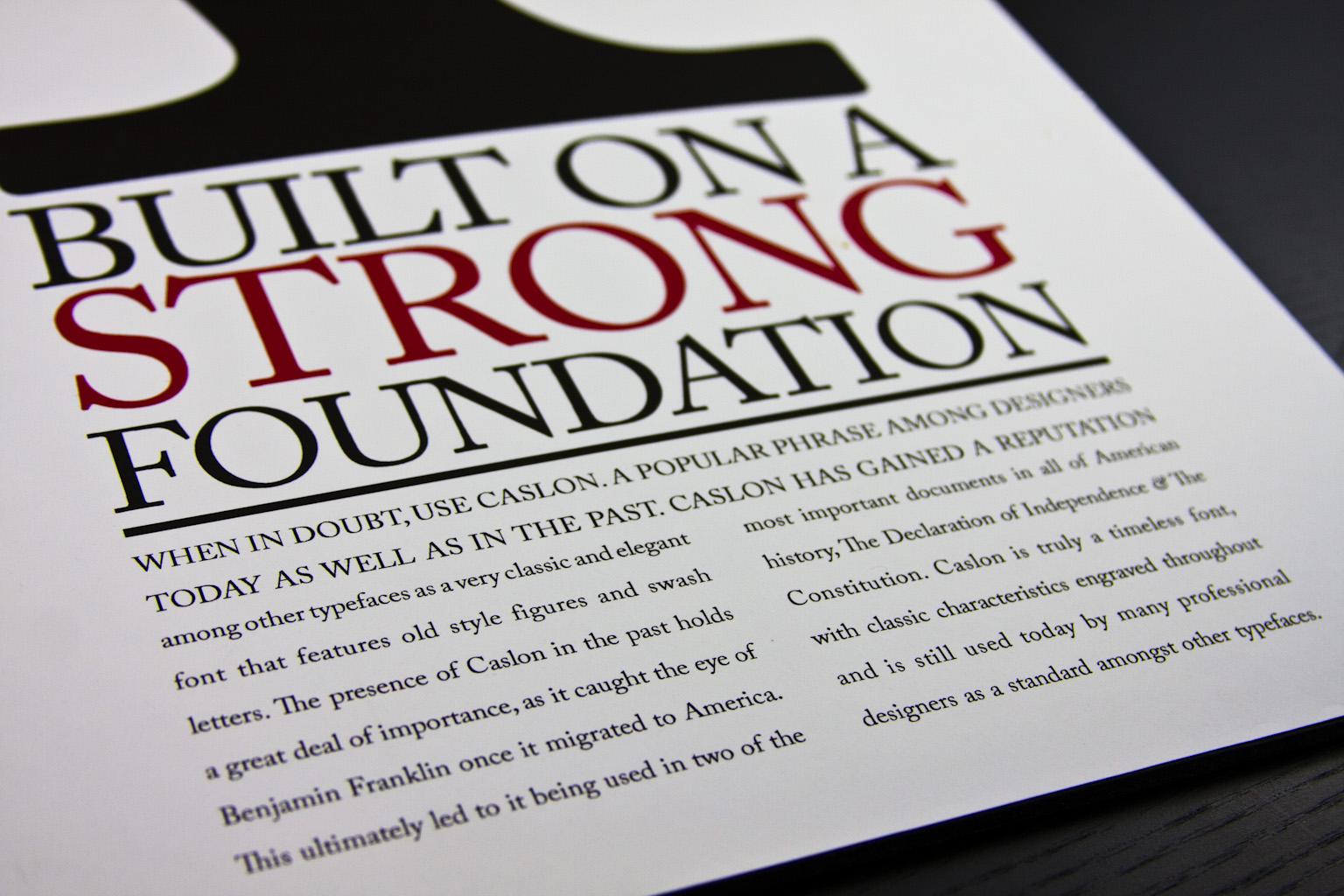typographic specimen poster close up