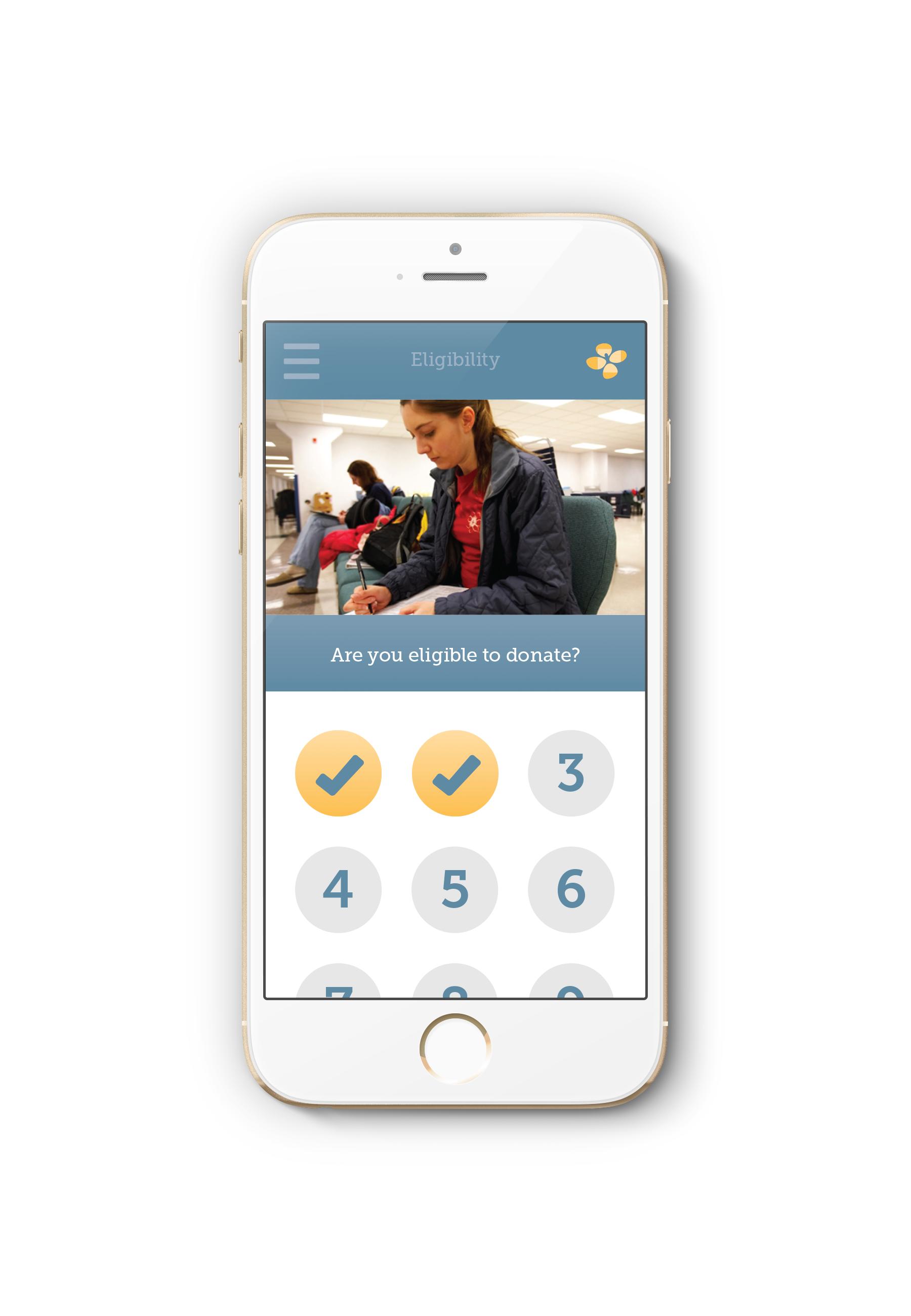 blood center of Wisconsin app designs