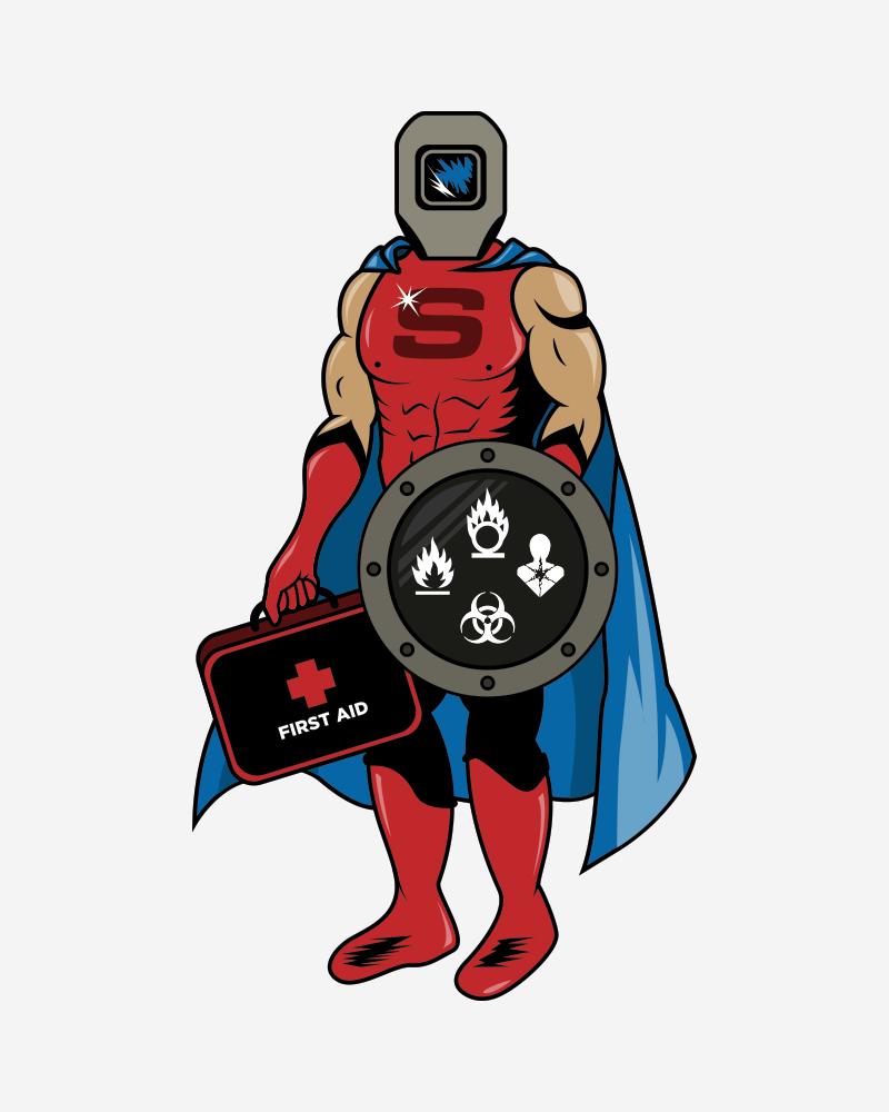 captain safety superhero full