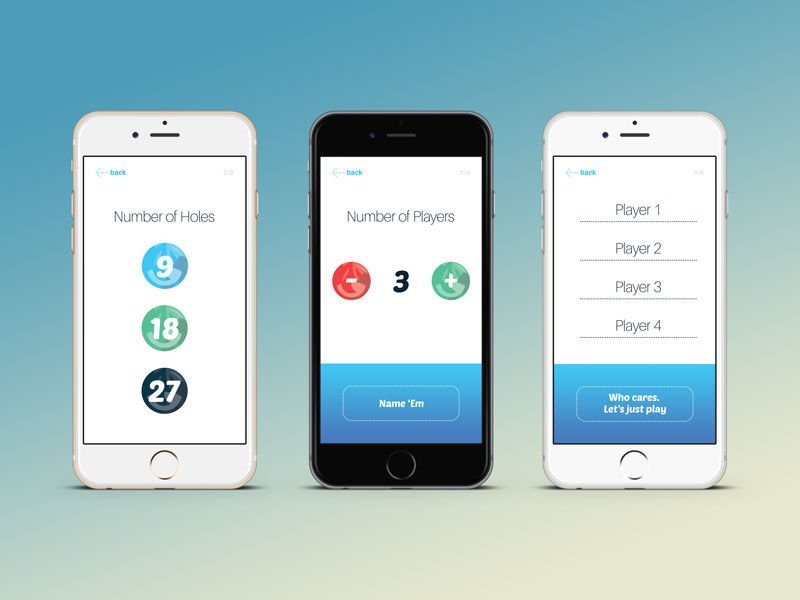 dg scorecard app screens