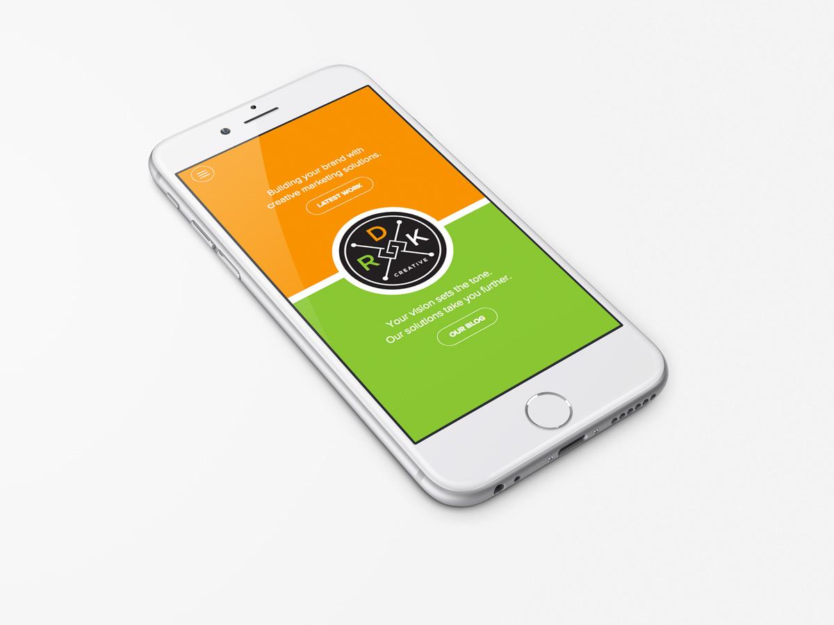 drk creative website mobile