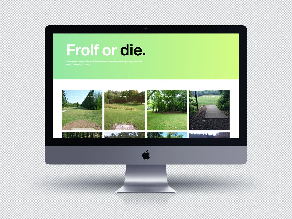 Frolf or Die website