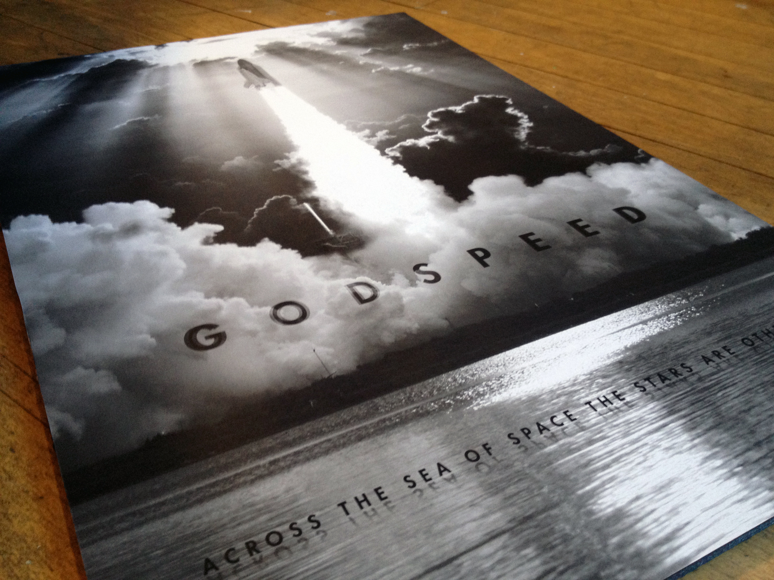 godpseed poster space shuttle