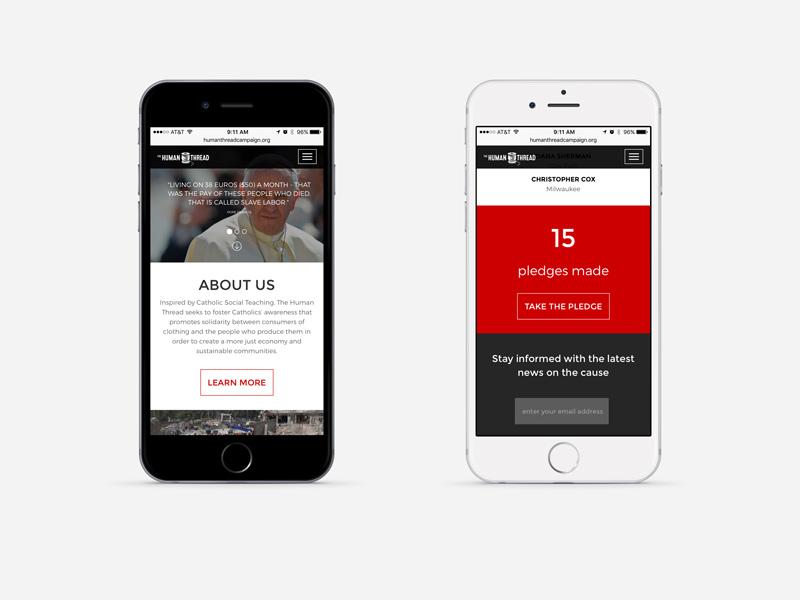 human thread website mobile