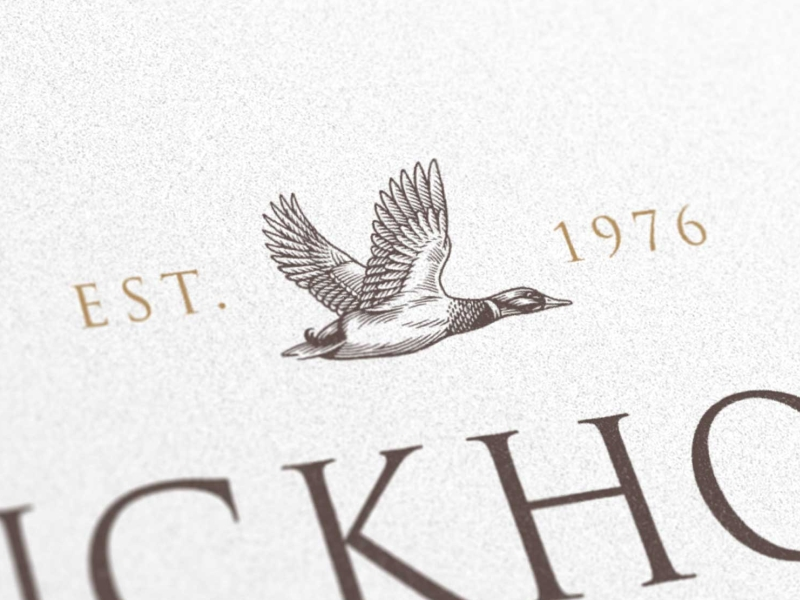 goose illustration with fancy text