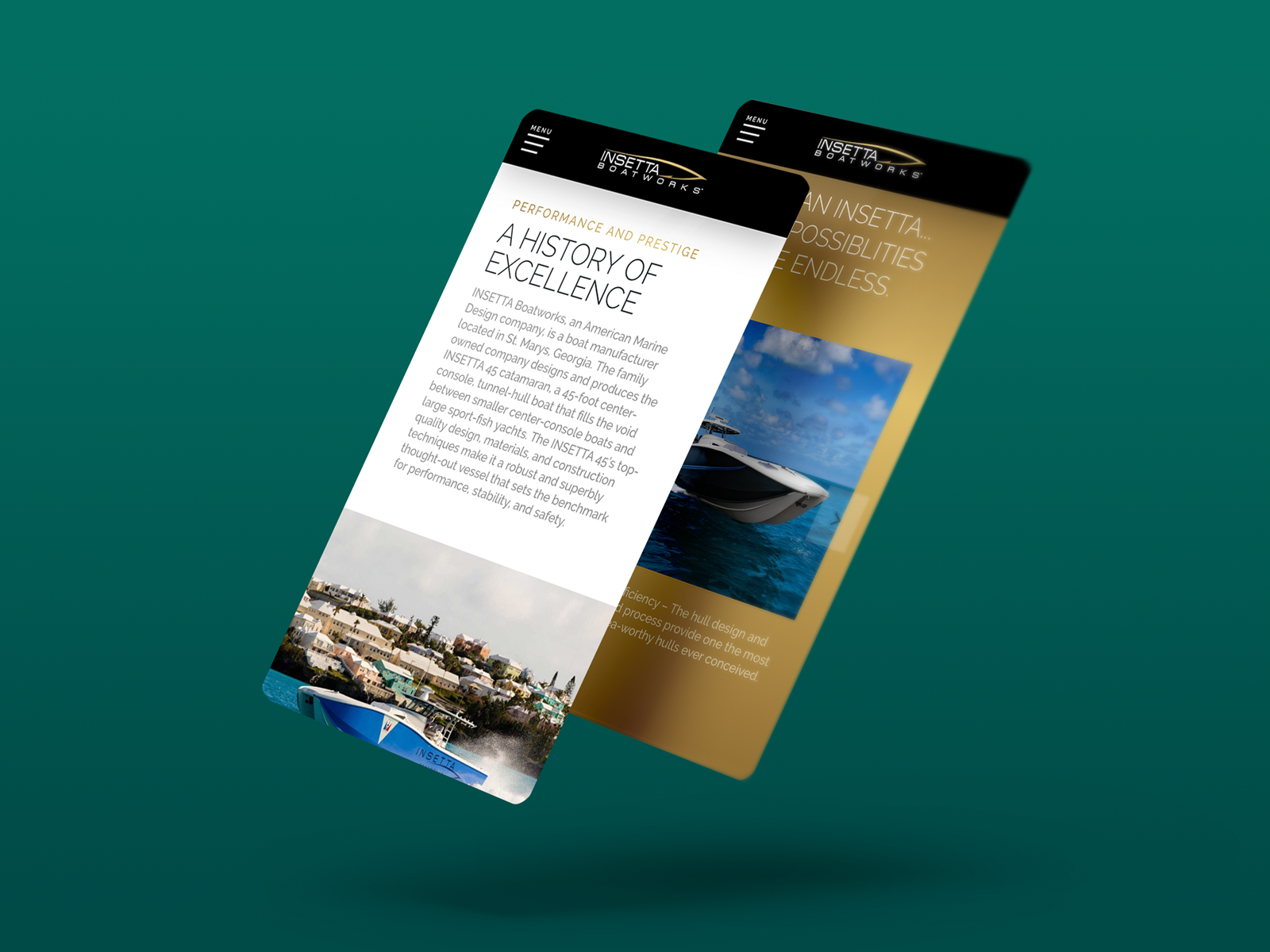 insetta website designs mobile