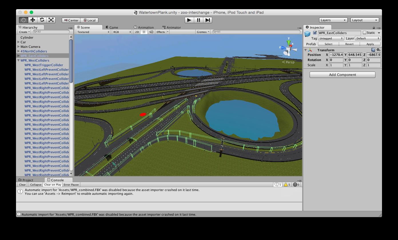 interchange simulator unity3d