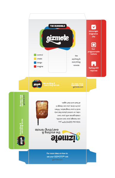 gizmote colorful packaging