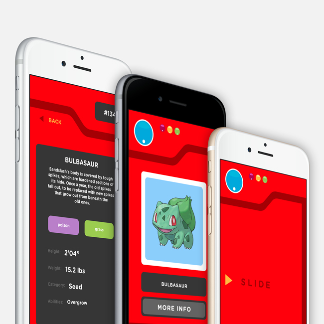 pokedex app designs