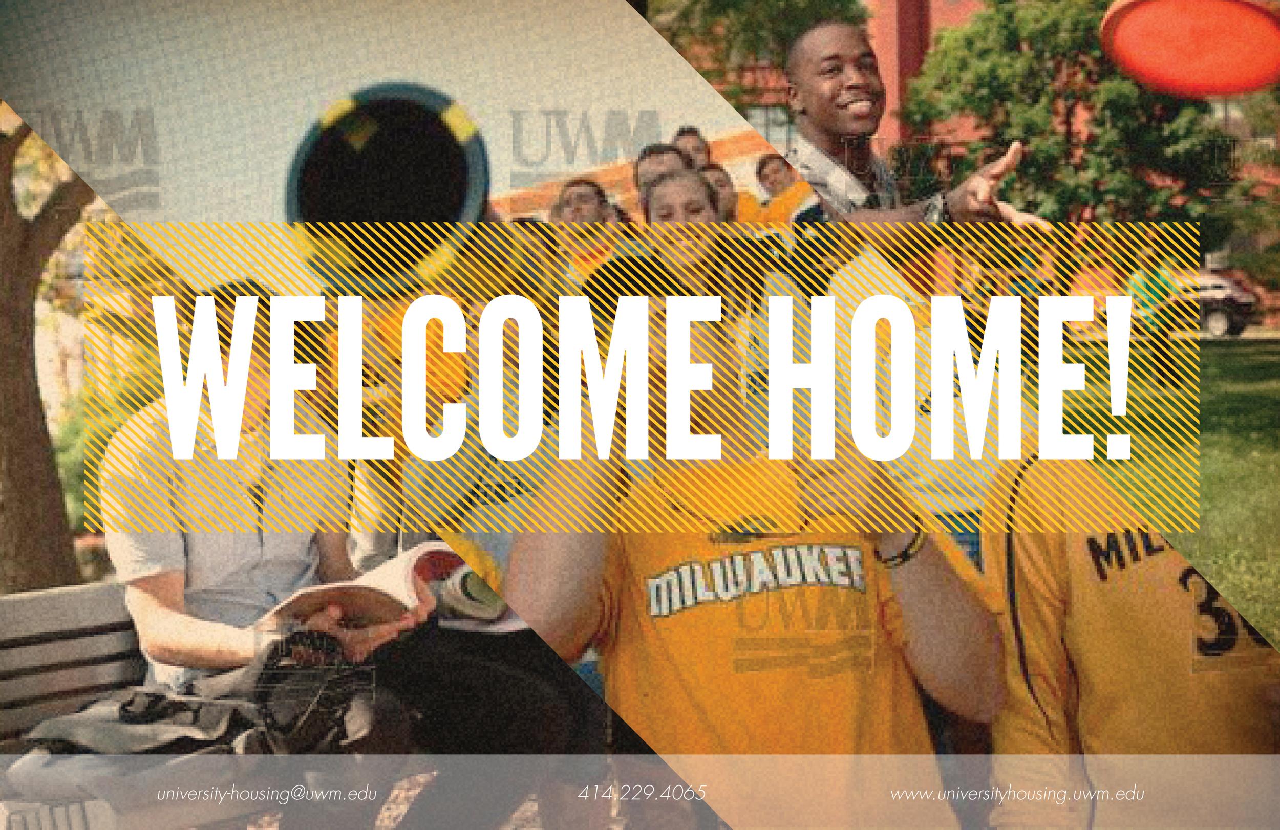 uwm welcome home postcard