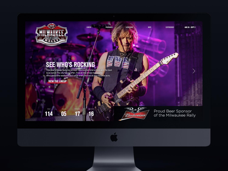 Milwaukee Rally website home page