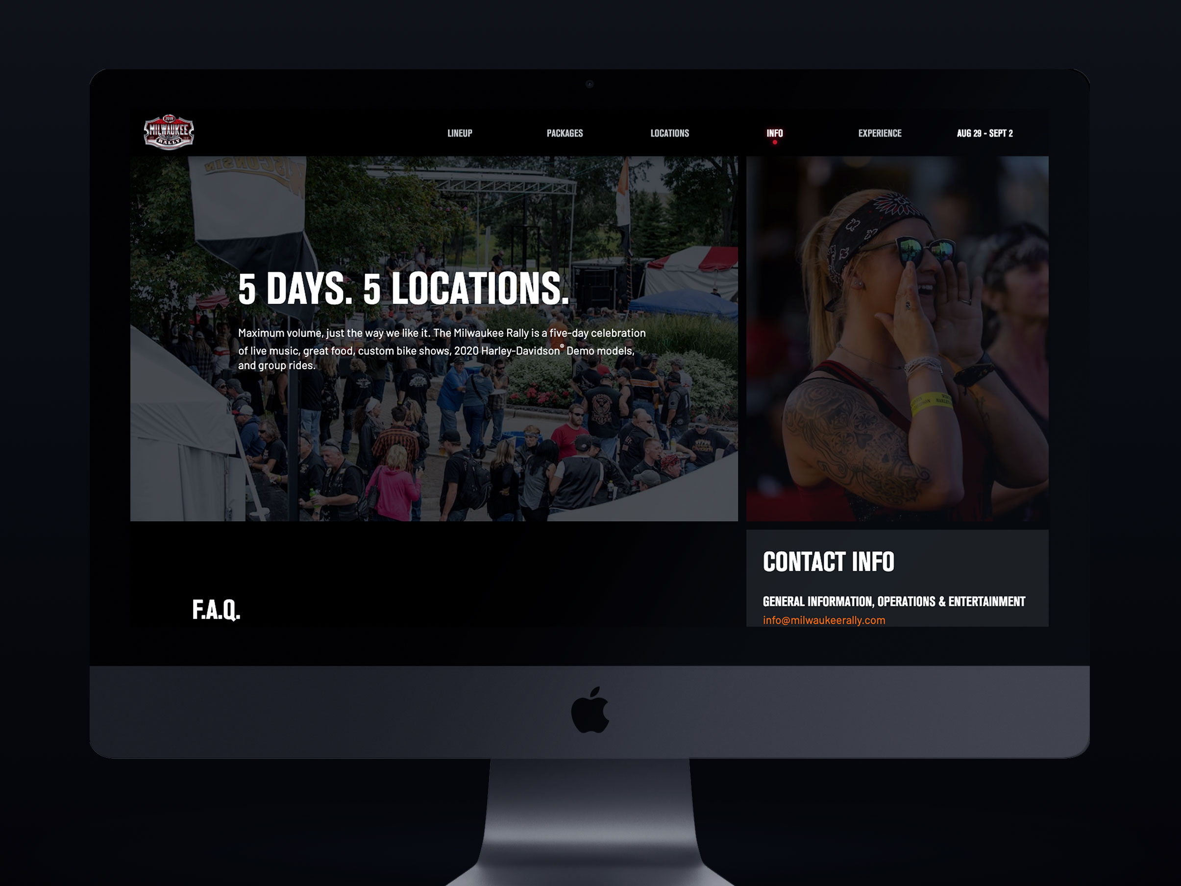 Milwaukee Rally website info page
