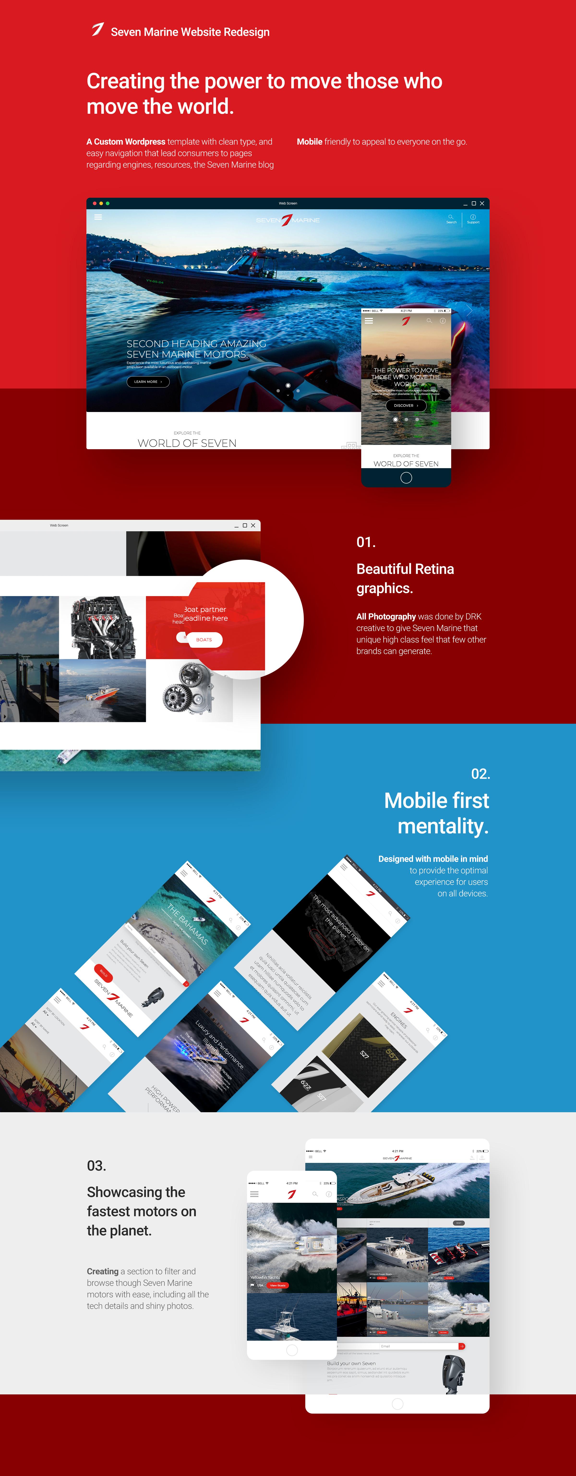 Seven Marine website designs
