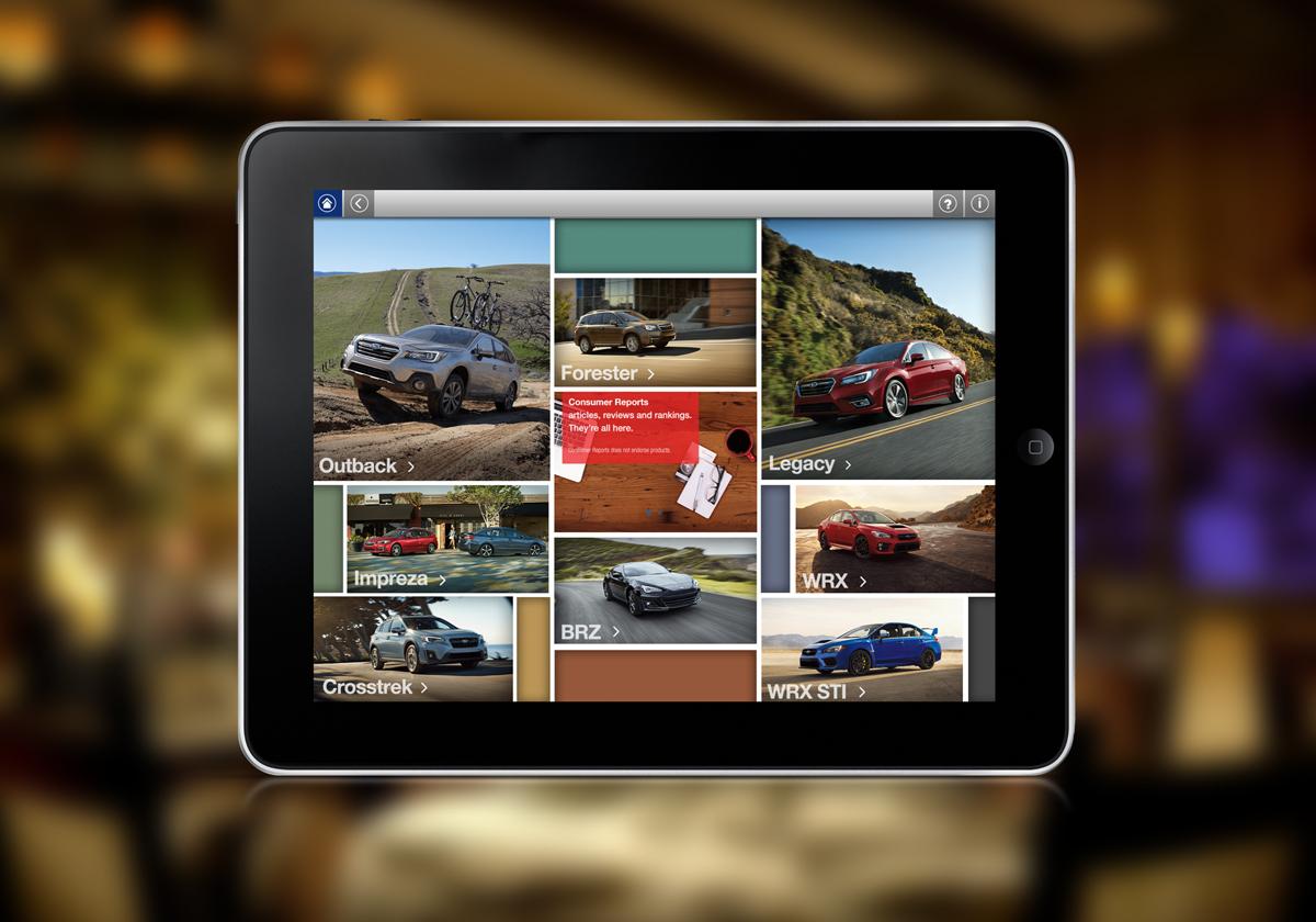 Subaru App Designs