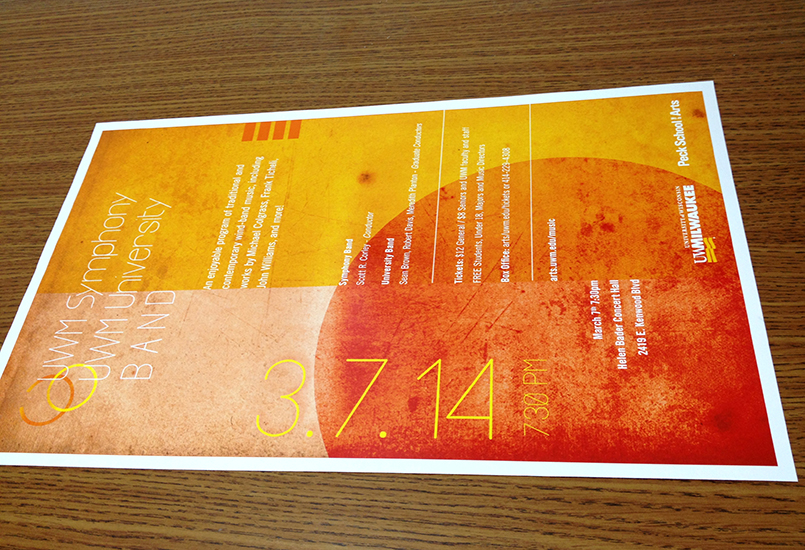 UWM band symphony poster