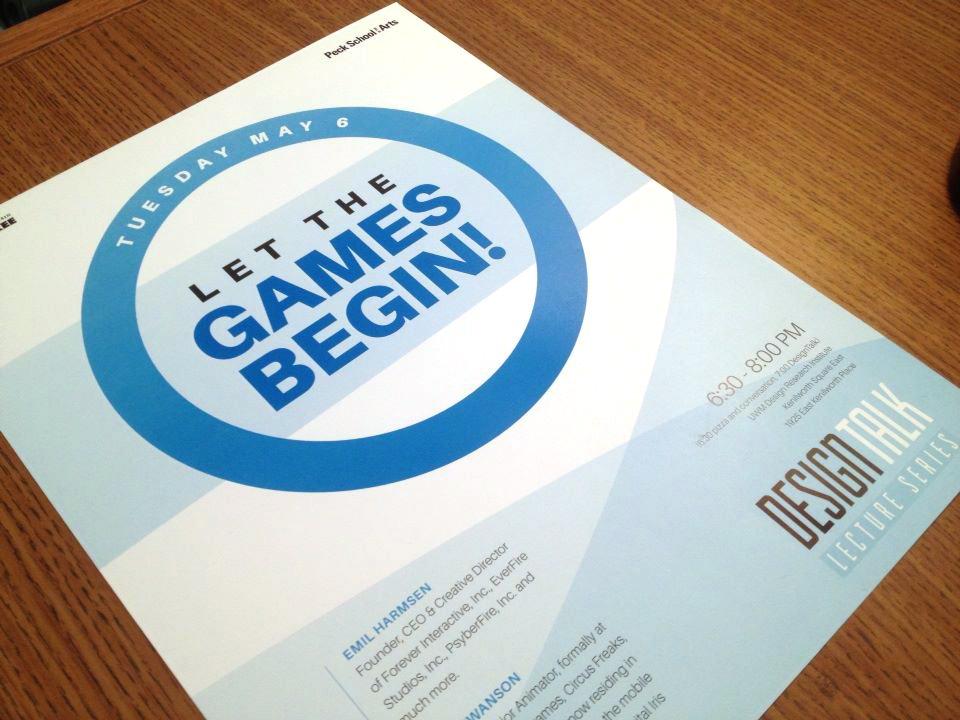 uwm design talk lecture series poster