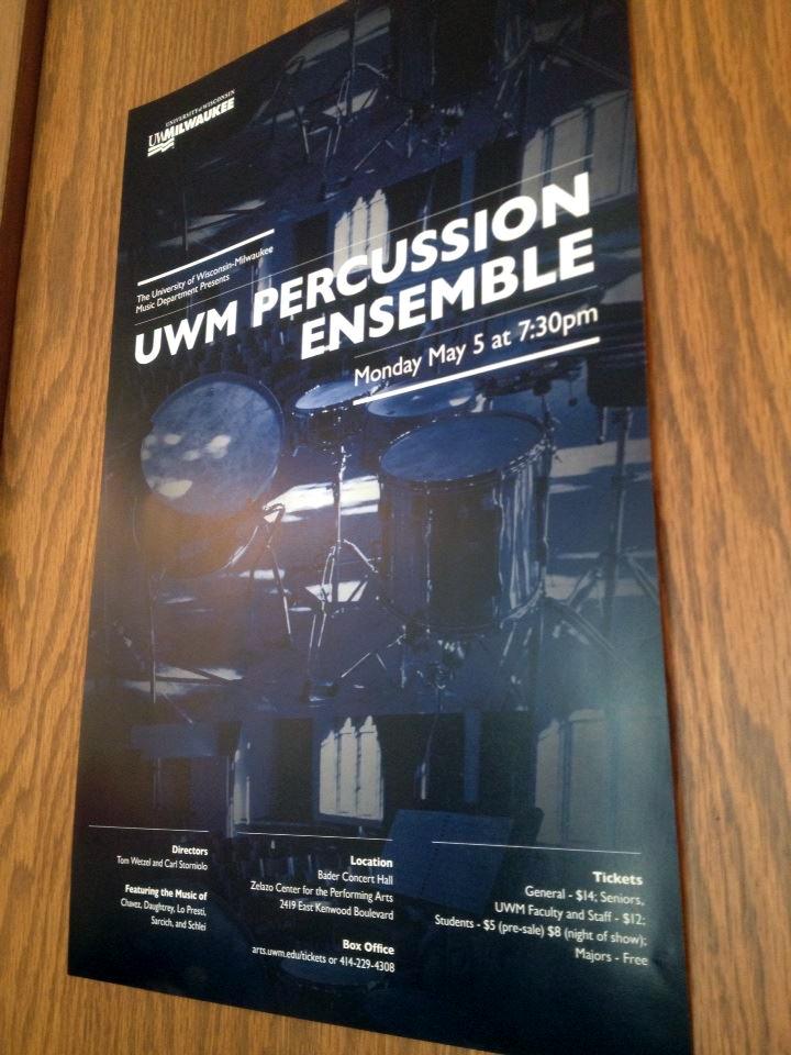 uwm percussion ensemble poster