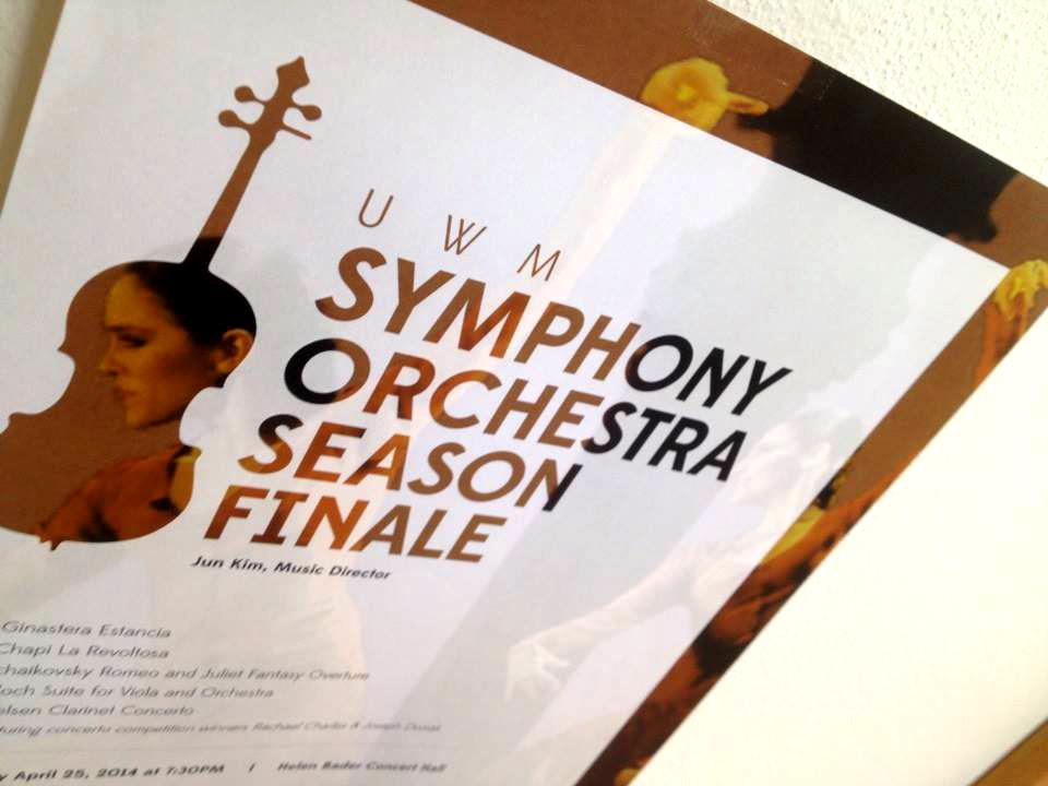 uwm symphony poster