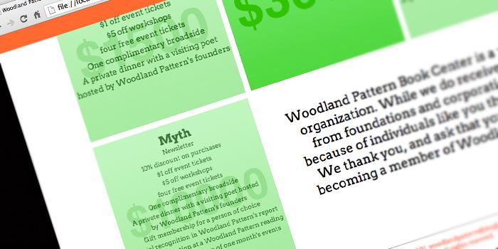 woodland pattern website redesign
