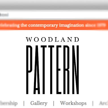 woodland pattern logo redesign