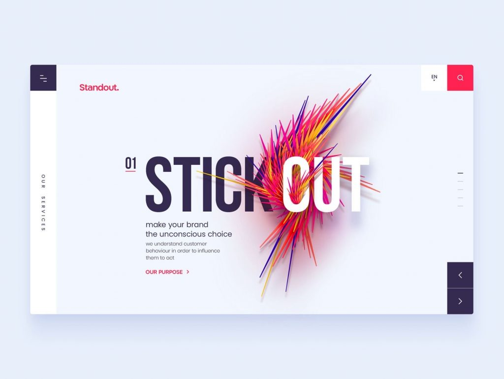 stick out website homepage