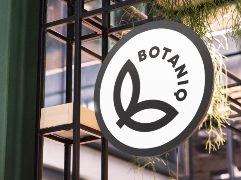botaniq logo on sign
