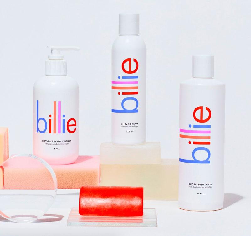 Lotion branding for Billie
