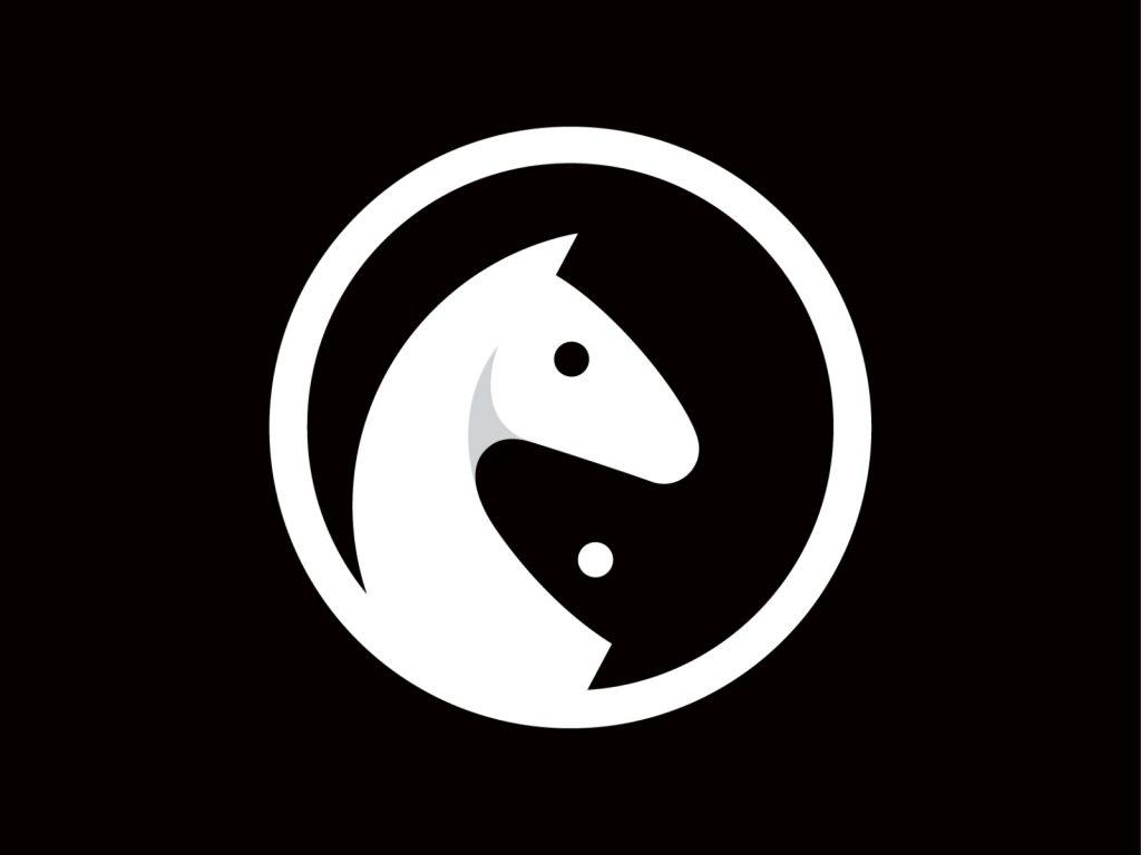 horse logo white