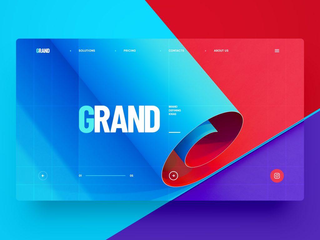 Grand website design