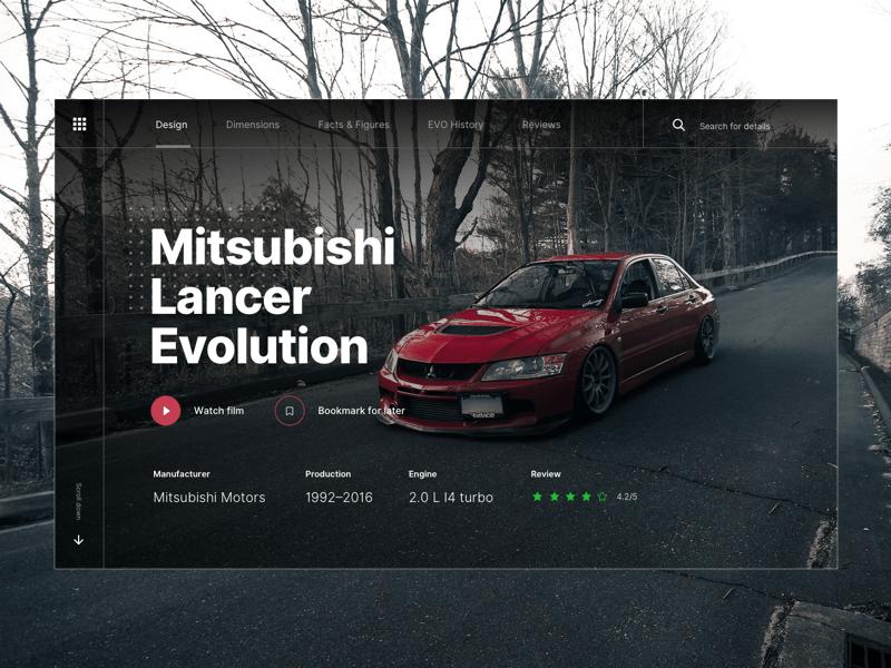 mitsubishi landing page