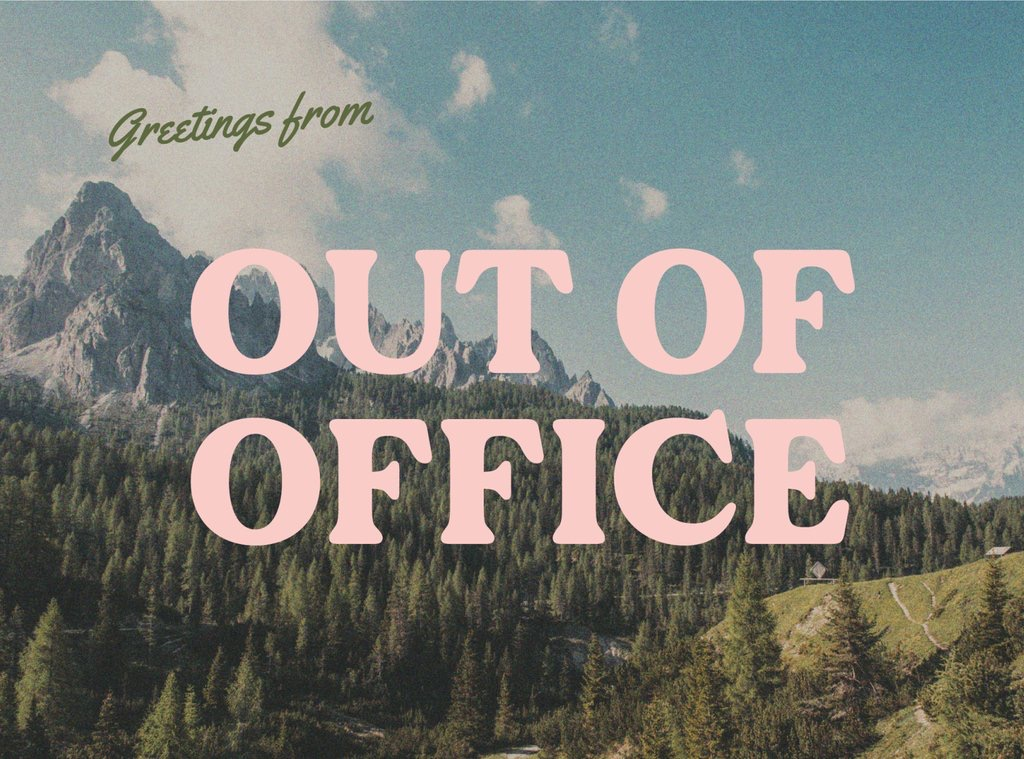 out of office postcard