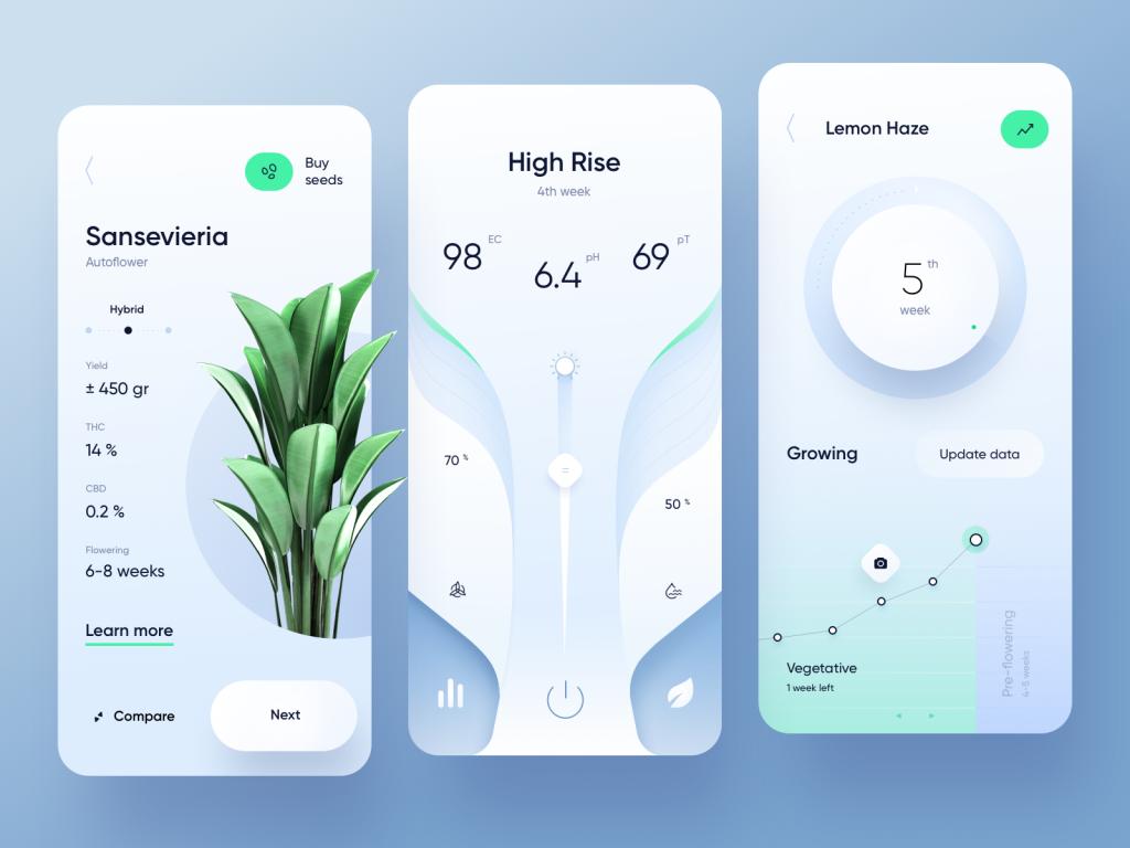 plant app designs