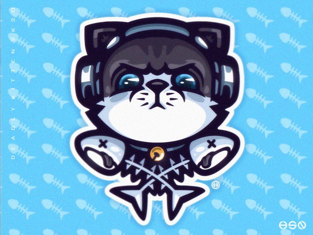 kitty skull and crossbones logo