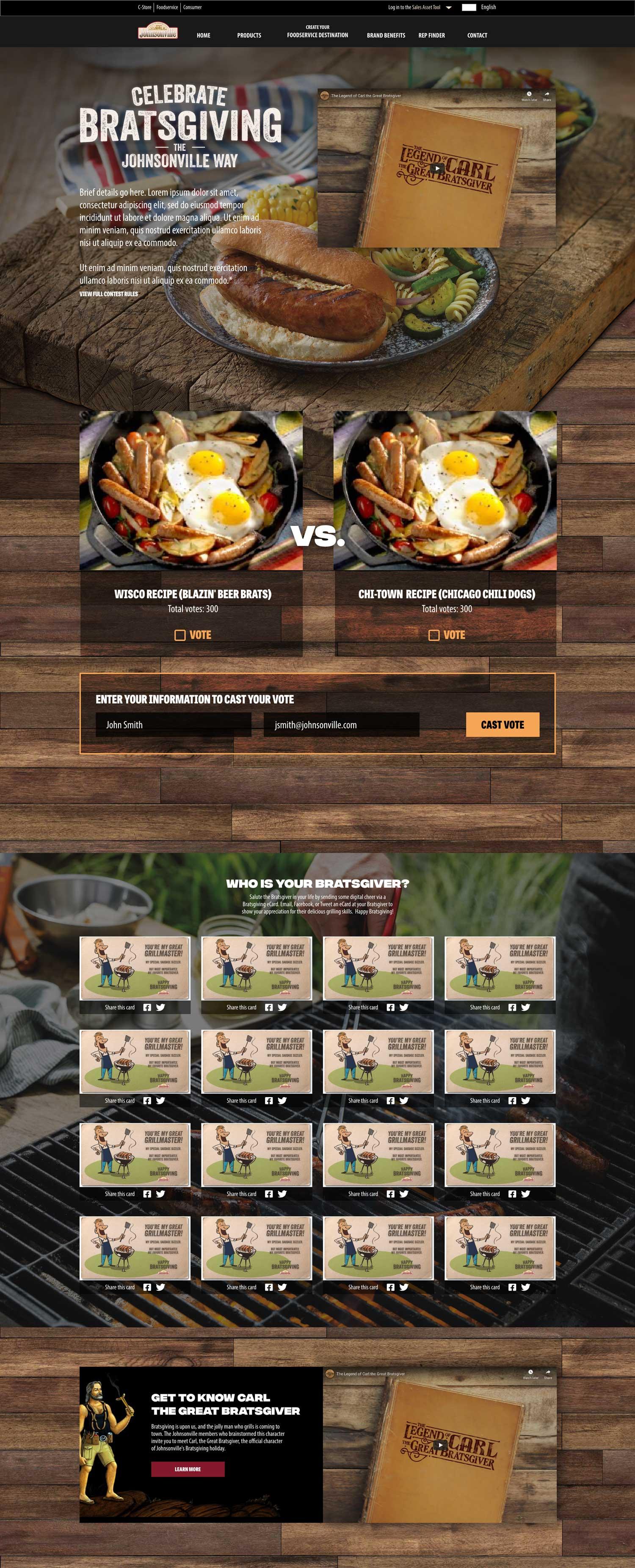 bratsgiving page design