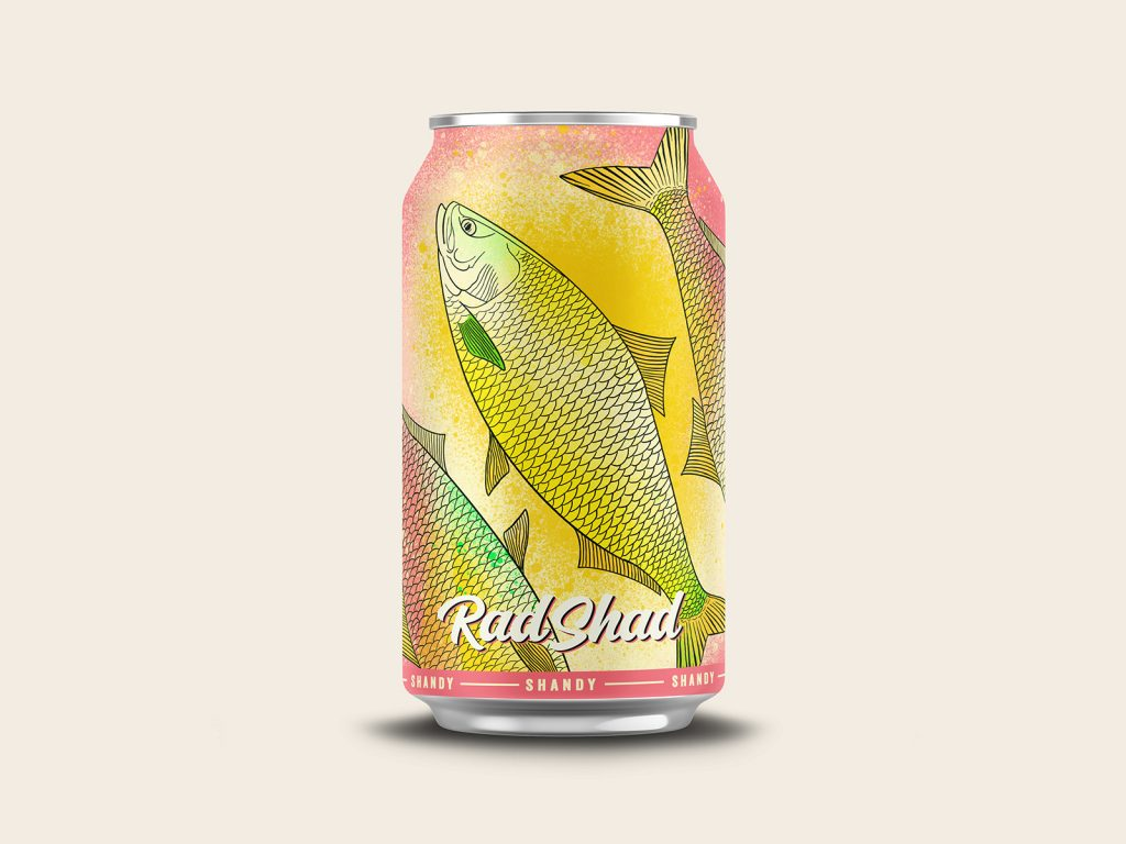 fish beer can