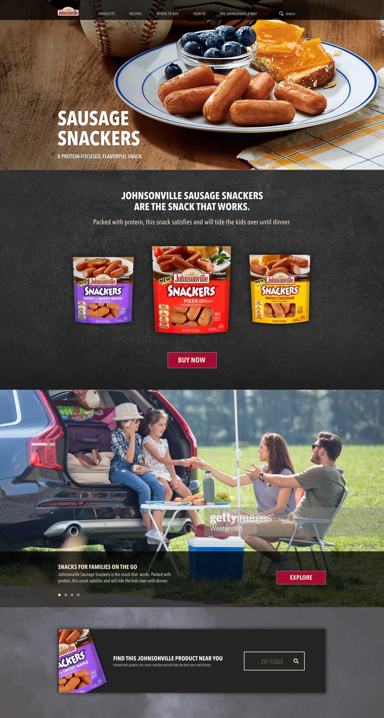 sausage snackers design