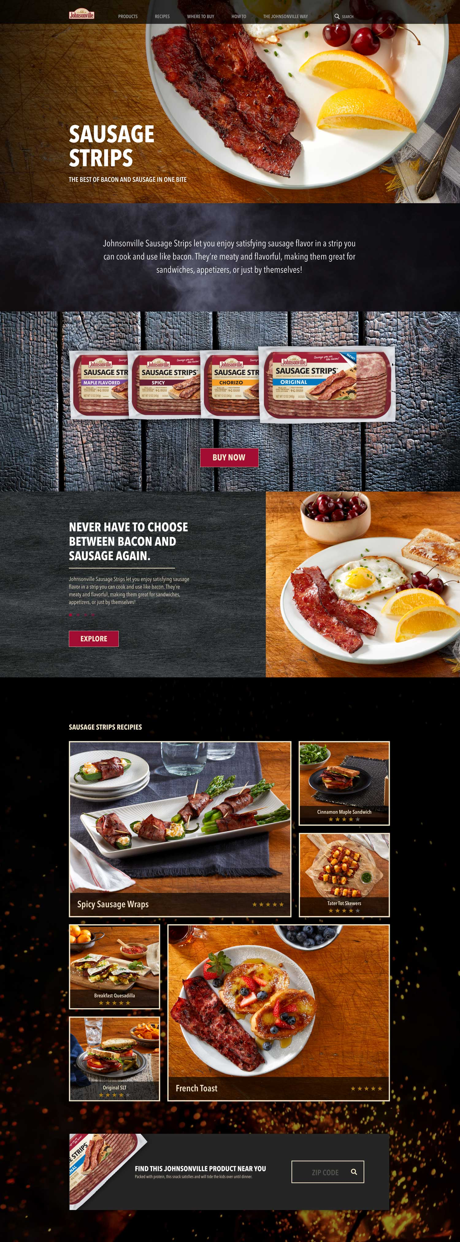 sausage strips design