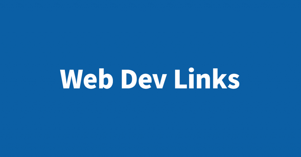 Joe Kotlan's favorite web dev links