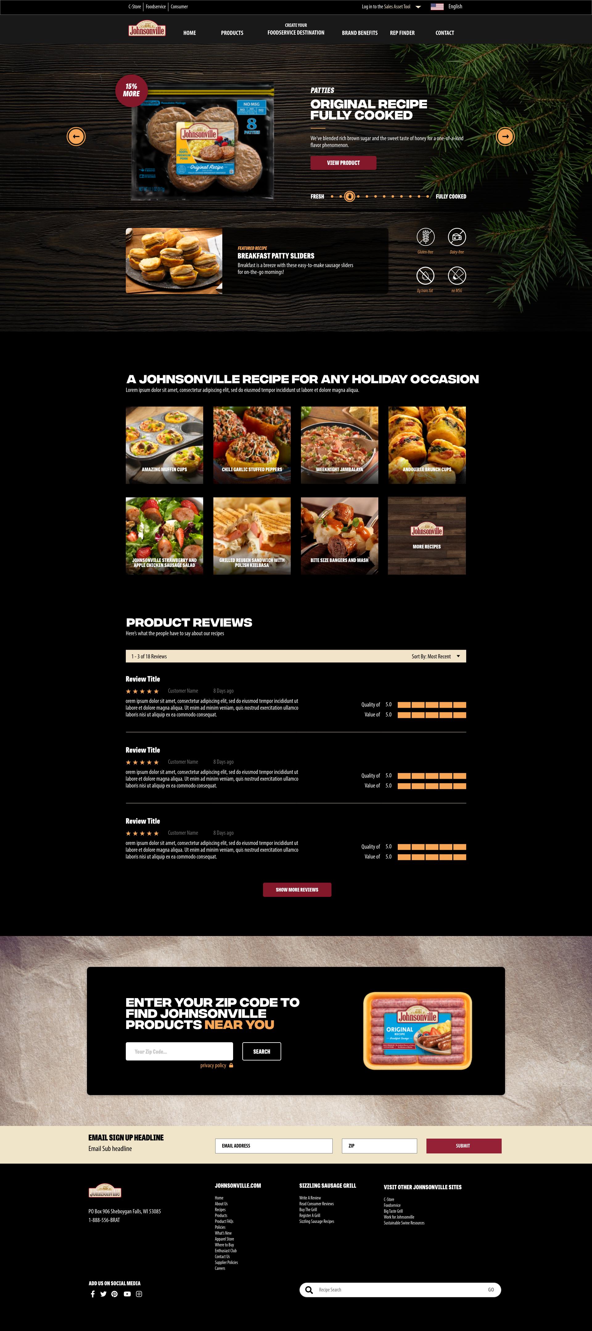 breakfast sausage page design